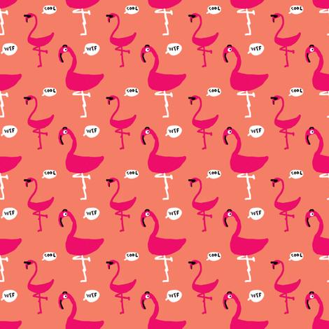 wtf flamingo cool flamingo fabric by merineiti on Spoonflower - custom fabric