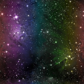 Rainbow Galaxy Nebula Fabric