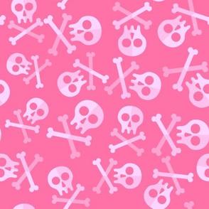 Cute Pink Skulls And Bones
