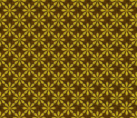 Sundew - gold fabric by thecalvarium on Spoonflower - custom fabric