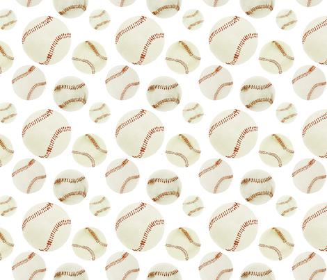 baseball field fabric by atlanticmoira on Spoonflower - custom fabric