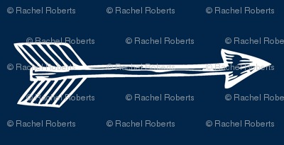Shooting Arrows Navy Rotated