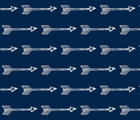 Shooting Arrows Navy Rotated fabric by modfox on Spoonflower - custom fabric