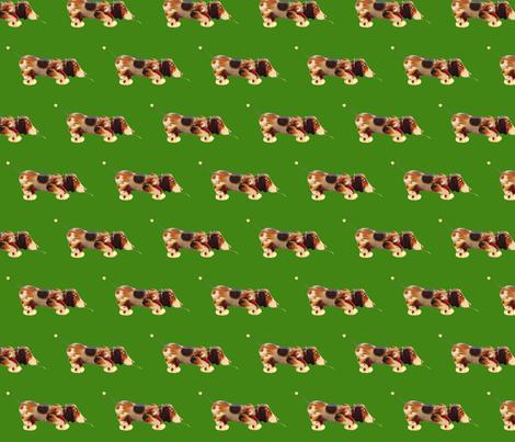 vintage toy dog fabric by myrule on Spoonflower - custom fabric