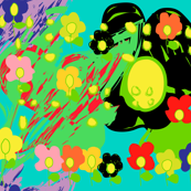 Warhol inspired spring brings flowers