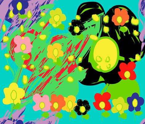 Warhol inspired spring brings flowers fabric by veerapfaffli on Spoonflower - custom fabric