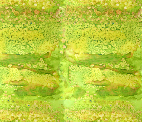 Yellow green paint effect fabric by linsart on Spoonflower - custom fabric