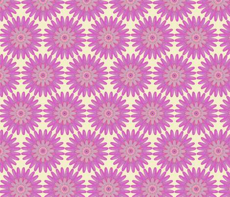 Pink kaleidoflower fabric by linsart on Spoonflower - custom fabric