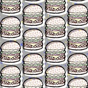 Confetti Burgers - grey