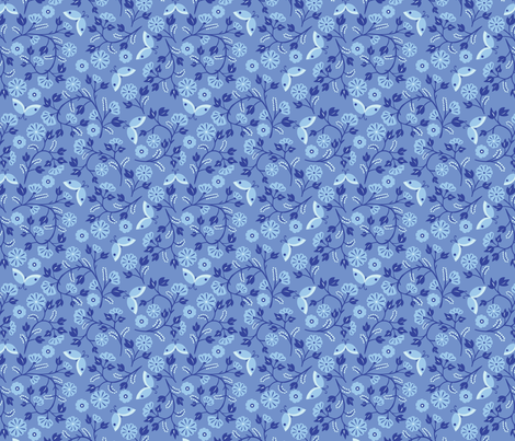 blue_morning_glory-01 fabric by laura_mooney on Spoonflower - custom fabric