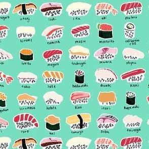 Sushi Chart - wasabi