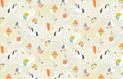 Pinata Factory by Friztin fabric by friztin on Spoonflower - custom fabric