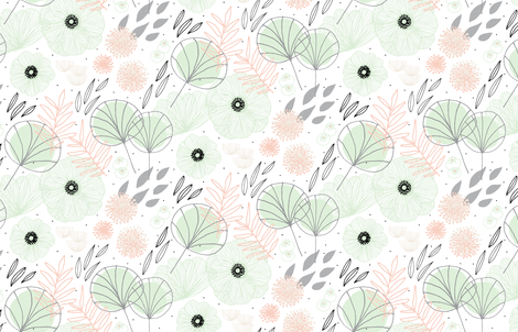 Spring Floral by Friztin fabric by friztin on Spoonflower - custom fabric