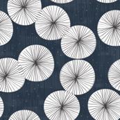Umbrellas at Night by Friztin
