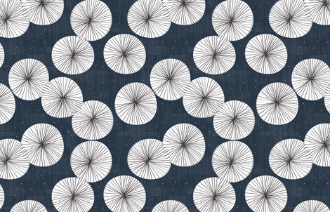 Umbrellas at Night by Friztin fabric by friztin on Spoonflower - custom fabric