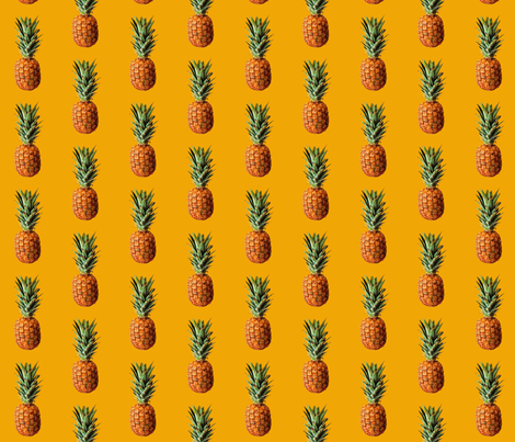 Sunny Pineapple fabric by myrule on Spoonflower - custom fabric