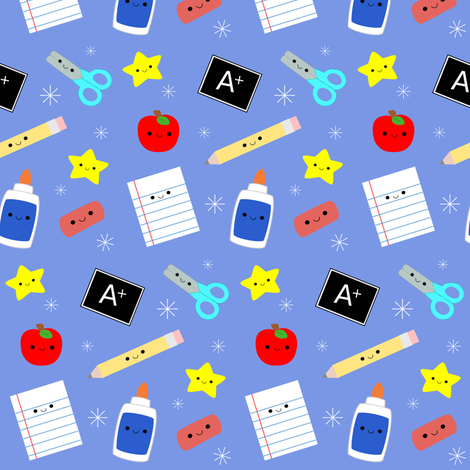 Back to School fabric by clayvision on Spoonflower - custom fabric