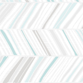Herringbone Hues of Aqua H by Friztin