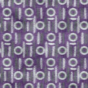 Purple Llama Circle Stripes