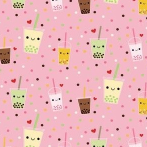 Happy Boba Bubble Tea - Pink