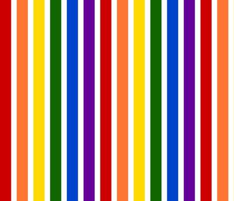 Rainbow stripes bright colors fabric joyfulrose spoonflower for Rainbow color stripe watch