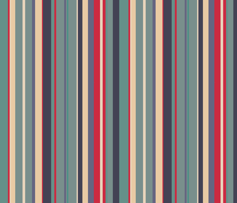 Sage stripes fabric by greennote on Spoonflower - custom fabric