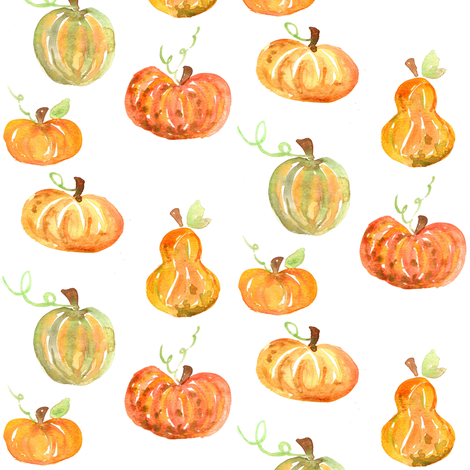 pumpkins and squash fabric by erinanne on Spoonflower - custom fabric