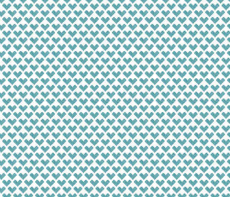 Frederica Cross Stitch Hearts in Teal fabric by katebillingsley on Spoonflower - custom fabric