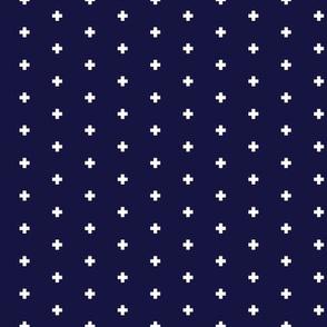 Frederick Navy Blue Pluses