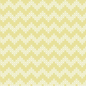 Sir Oswald Cross Stitch Chevron in Yellow