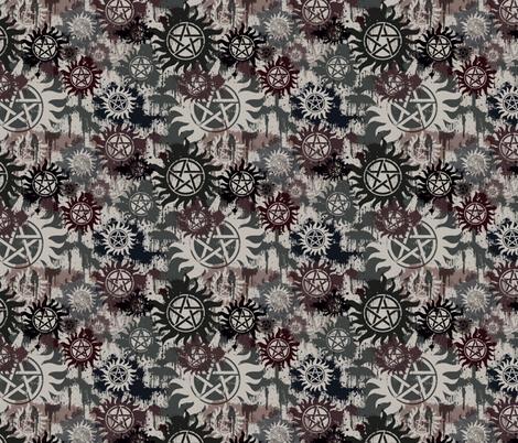 Protective Symbol Spray Paint fabric by costumewrangler on Spoonflower - custom fabric
