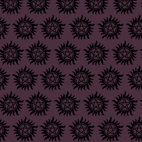 Protective Symbol Purple fabric by costumewrangler on Spoonflower - custom fabric