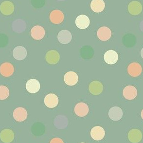 Pistachio polka dots