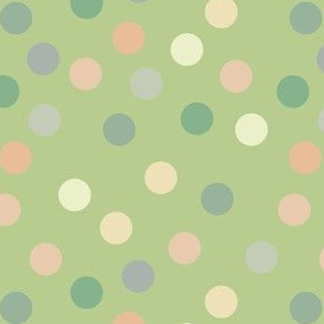 Bright pistachio polka dots
