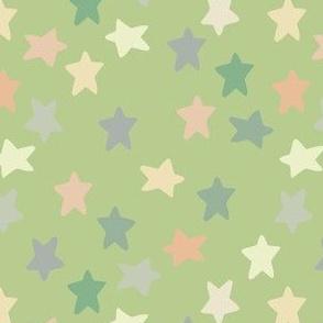 Bright pistachio stars