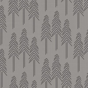 Forest Pine Trees Grey