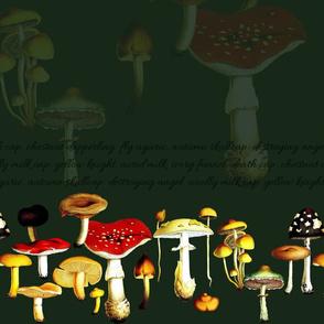 poison mushrooms (green)