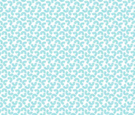 Rainbow // Blue fabric by wildolive on Spoonflower - custom fabric