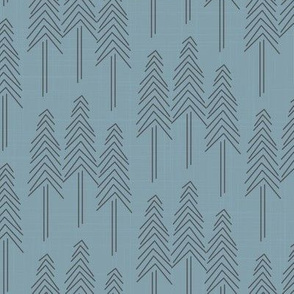 Forest Pine Trees - Blue Grey