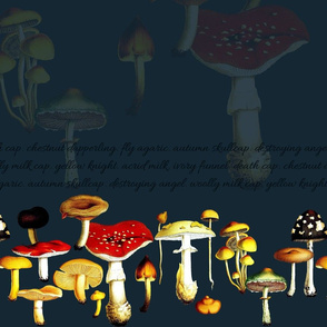 poison mushrooms (teal)