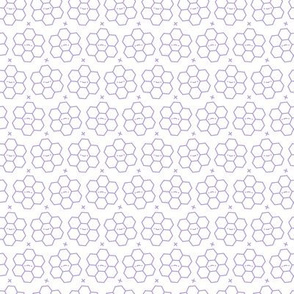 Hexagons // Purple