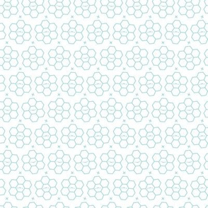 Hexagons // Aqua