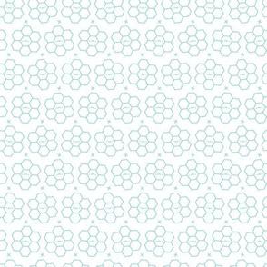 Hexagons // Aqua