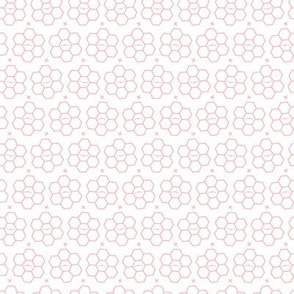 Hexagons // Pink