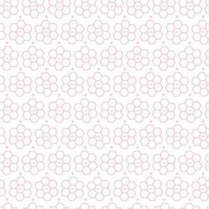 Hexagons // Pink