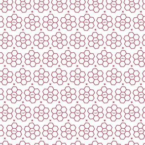 Hexagons // Red