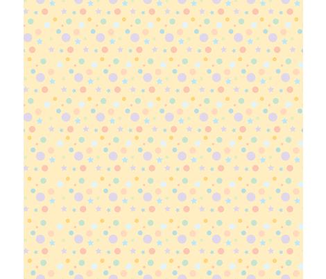 Dots_Stars_pastel fabric by tinastextiles on Spoonflower - custom fabric