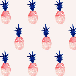 watercolor pineapple summer_pink