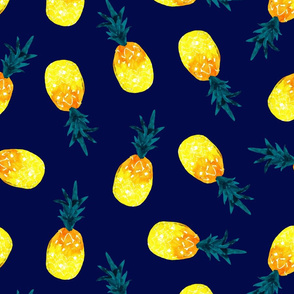 pineapple summer_navy natural watercolor