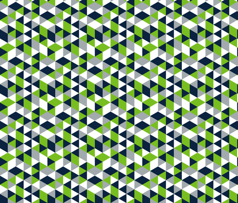 Geometric Seahawk Triangle (Small Print) fabric by classycassie on Spoonflower - custom fabric
